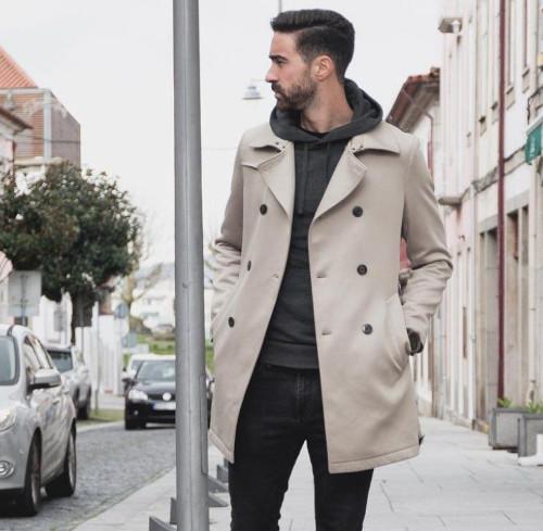 Tenue manteau hoodie