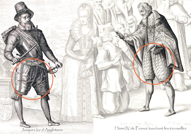 Culotte bouffante 17e siècle
