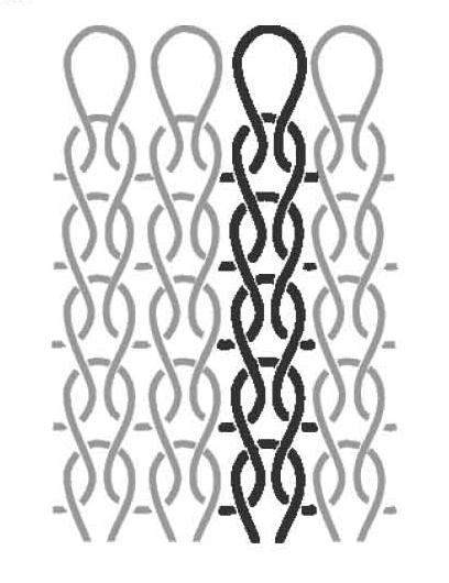 Exemple de tissu en maille