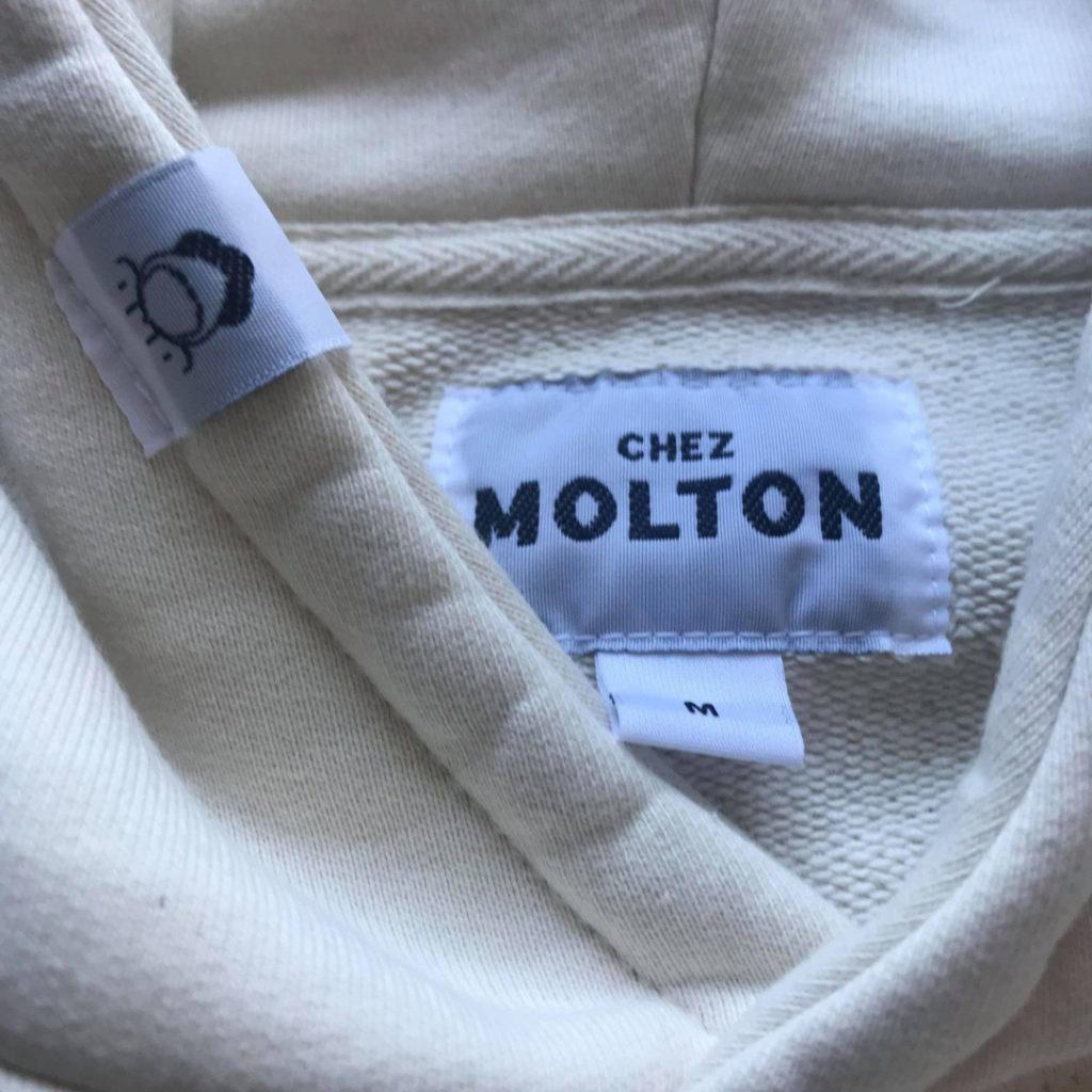 Bande de propreté prototype hoodie Chez Molton